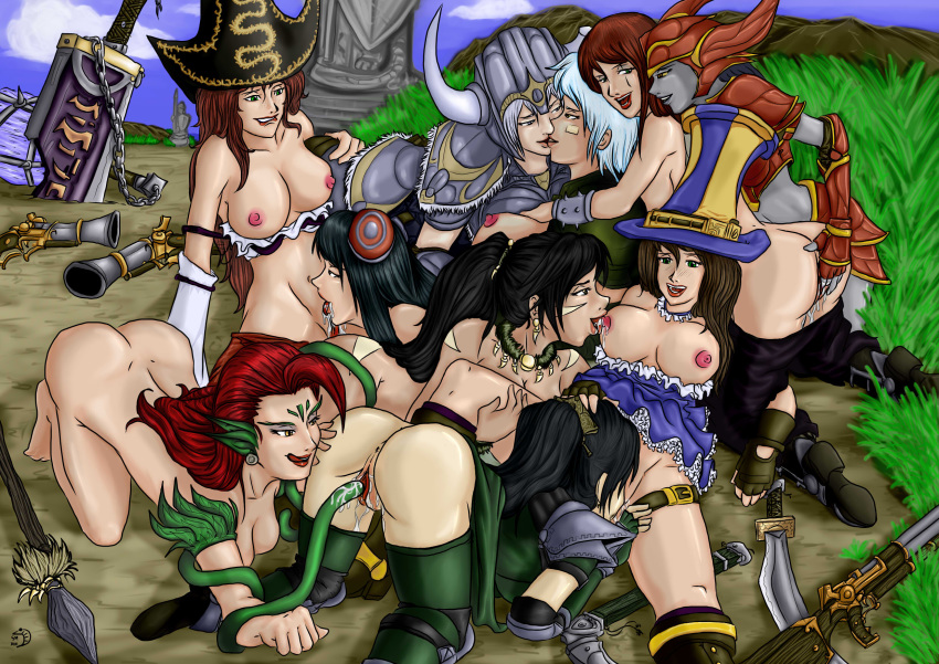 Photo of Akali, Caitlyn, Irelia, Katarina, Miss Fortune, Nidalee, Riven, Sejuani, Shyvana & Zyra
